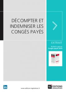 Calcul Des Conges Payes Editions Legislatives