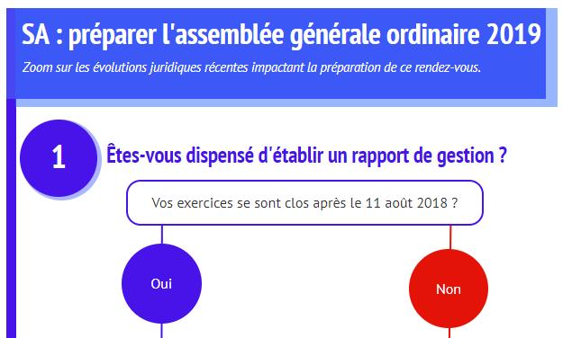 [Infographie] SA : préparer l'assemblée générale ordinaire 2019